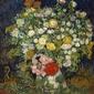 Bouquet of flowers in a vase, vincent van gogh - plakat wymiar do wyboru: 50x70 cm
