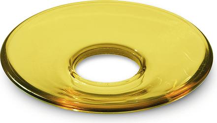 Okapnik do świecy Lumi płaski 8,5 cm żółty