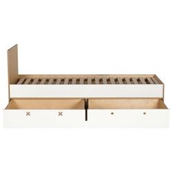 Łóżko z szufladami migos 80x200 szare