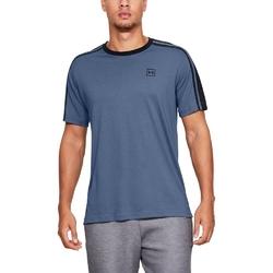 Koszulka męska under armour unstoppable striped ss t - niebieski