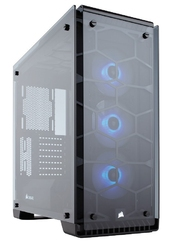 Corsair crystal series 570x rgb compact atx tempered glass, compact atx mid-tower  white