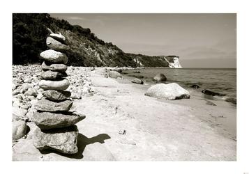 Kamienie na plaży - plakat Wymiar do wyboru: 59,4x42 cm