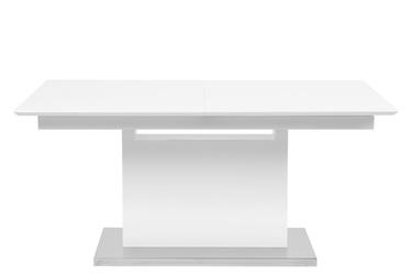 Stół rozkładany Tace 160-220x90 cm biały połysk