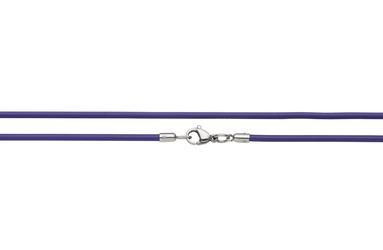 Naszyjnik silikonowy 2613-1 fioletowy