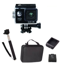Kamera sportowa sjcam sj4000 fhd + akcesoria z walizką