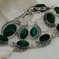 Ripoli - srebrny komplet z malachitami i cyrkoniam