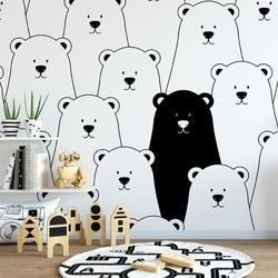 Tapeta dziecięca - bears friends , rodzaj - próbka tapety 50x50cm