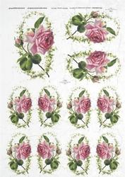 Papier ryżowy ITD A4 R221 róże
