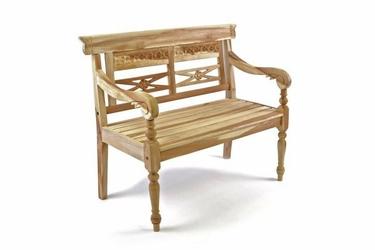 Drewniana 2-osobowa ławka dla dzieci 40 x 64 x 80 cm