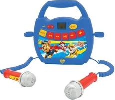 Przenośny cyfrowy odtwarzacz z funkcją nagrywania karaoke + bluetooth paw psi patrol