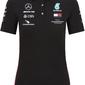 Koszulka polo damska mercedes amg petronas f1 2020 czarna - czarny