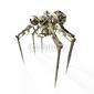 Obraz na płótnie canvas trzyczęściowy tryptyk robot - pająk - szpieg