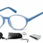 Okulary dziecięce zerówki okrągłe lenonki pk15a niebieskie