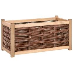 Vidaxl podwyższona donica ogrodowa, 80x40x40 cm, drewno sosnowe