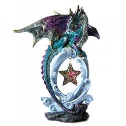 Niebieski smok z gwiazdą - figurka
