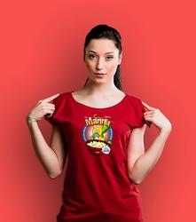 Manna t-shirt damski czerwony xl