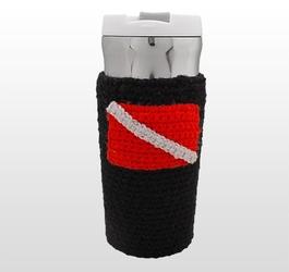 Sweterek na kubek termiczny z flagą nurkową diver