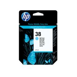 HP 38 oryginalny pigmentowy wkład atramentowy jasny błękitny