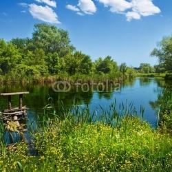 Fotoboard na płycie letni krajobraz