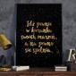 Idź pewnie w kierunku marzeń - plakat typograficzny , wymiary - 40cm x 50cm, ramka - czarna