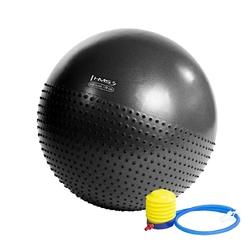 Piłka gimnastyczna masująca yb03 75 cm czarna - hms