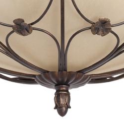 Lekka lampa sufitowa z brązowych elementów metalowych chiaro 382018205