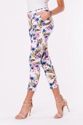 Spodnie+pasek -biały 48011-2