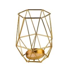 Świecznik metalowy geometryczny altom design złoty 12,5 cm