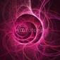 Naklejka samoprzylepna różowe pierścienie płomienia