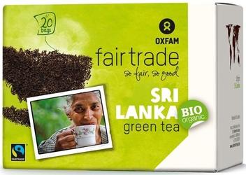 Oxfam   herbata zielona saszetki 36g   organic - fairtrade