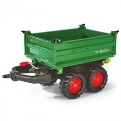 Przyczepa wywrotka mega trailer rolly toys rollytrailer zielona czerwone kołpaki