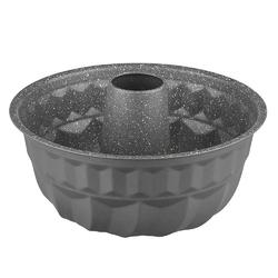 Forma  blacha do pieczenia babki z tuleją i powłoką nieprzywierającą altom design 22 cm szara