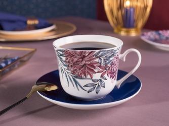 Duża filiżanka do kawy i herbaty ze spodkiem porcelanowa jumbo altom design margo 350 ml
