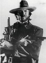 Clint Eastwood Dwa pistolety - plakat