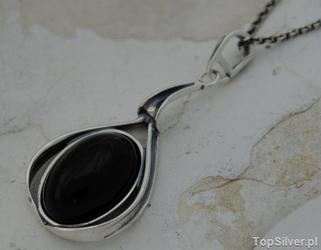 Intensa - srebrny wisiorek z onyksem