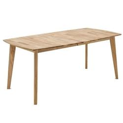 Nowoczesny drewniany dębowy rozkładany stół jannis  180-225x90 cm
