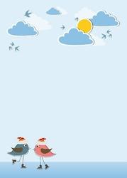 132 ptaszki chmurki tablica suchościeralna
