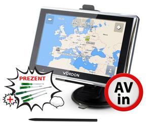 Nawigacja VORDON 5 AV Mapa Europy Dożywotnia + PREZENT