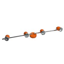 Reflektor sufitowy, cztery halogeny, dwa ramiona MW-LIGHT Techno pomarańczowy 546021204
