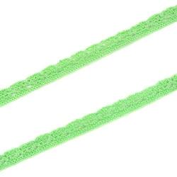 Ozdobna koronka bawełniana 10mm1m - zielony - ZIEL