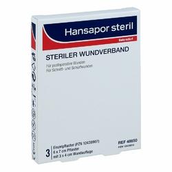 Hansapor steril Wundverband 6x7 cm