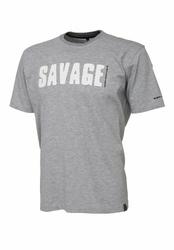 Koszulka Savage Gear Tee - Light Grey Melange XXL