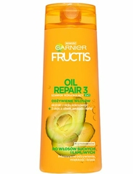 Garnier Fructis, Oleo Repair 2w1, szampon do włosów odżywczy, 400ml