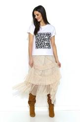 T--shirt z Motywem Zwierzęcym w Cętki
