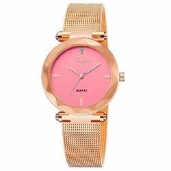 Zegarek Damski GENEVA. Elegancki Różowe Złoto MESH - rose pink