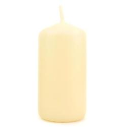 Kremowa świeca ozdobna - walec 50100 mm - 50100