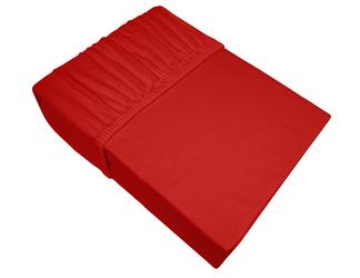 Prześcieradło jersey z gumką Bielbaw czerwone 030 - czerwony