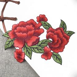 Naszywka dwie róże haft