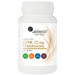 CYNK CHELATOWANY 25 mg x 100 tabletek