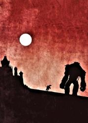 Shadow of the Colossus Vintage Poster - plakat Wymiar do wyboru: 42x59,4 cm